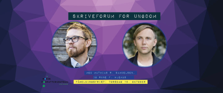 Facebookheading Skriveforum for ungdom 2017